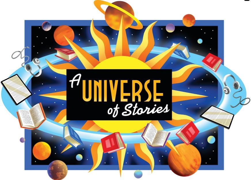 Universe of stories logo graphic