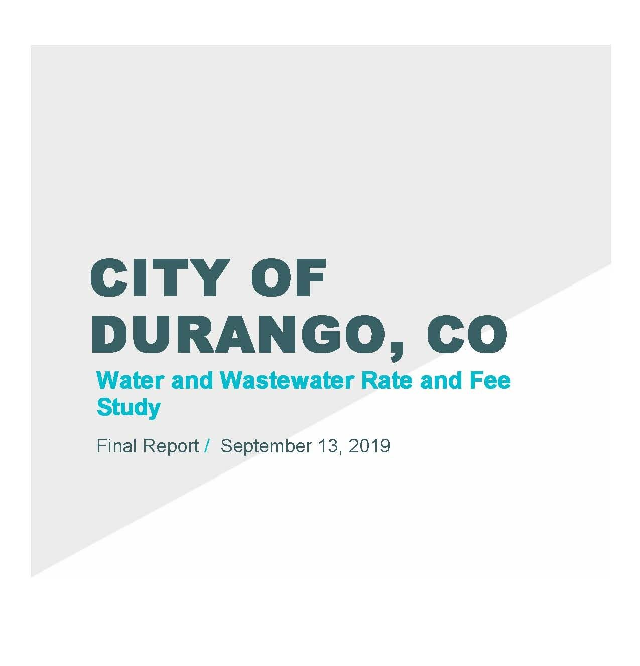 City of Durango Rate and Fee Study 2019