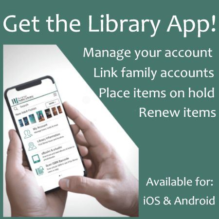 Graphic Announcing New Library Mobile App