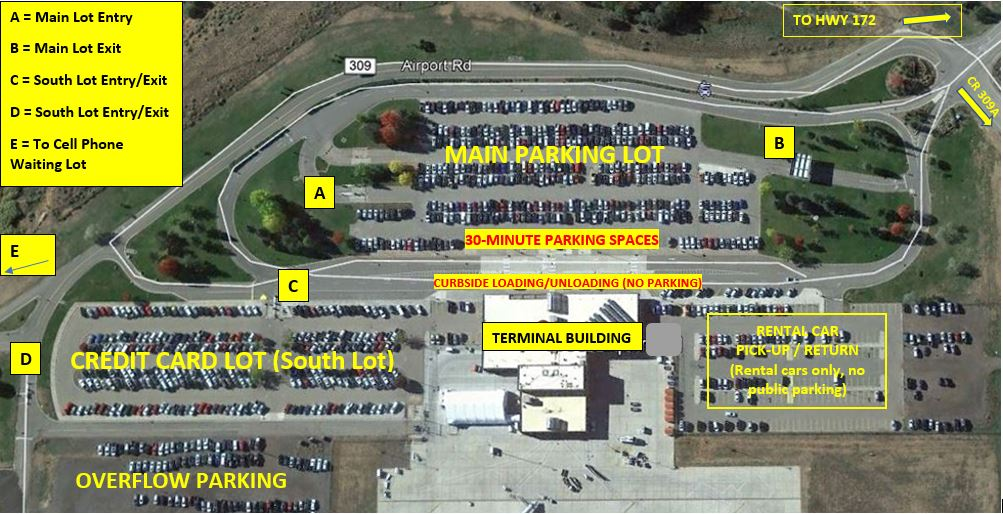 2020 Durango - La Plata County Airport Parking Map