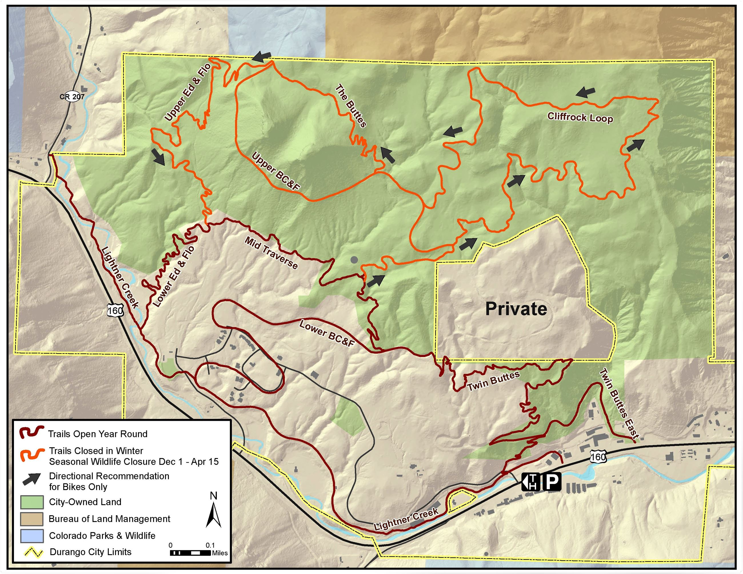 eMTB Trial Period at Twin Buttes Map