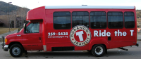 Red Durango Transit bus